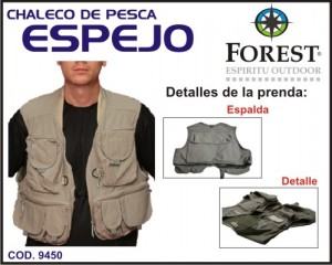 Chaleco para la pesca Forest Leather